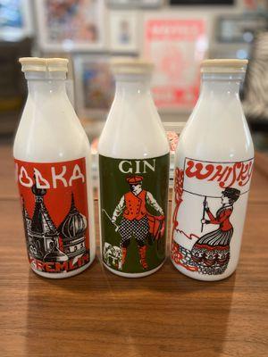 (3) Rare Vintage Antique Milk Glass Bottles for Sale in Agoura Hills, CA