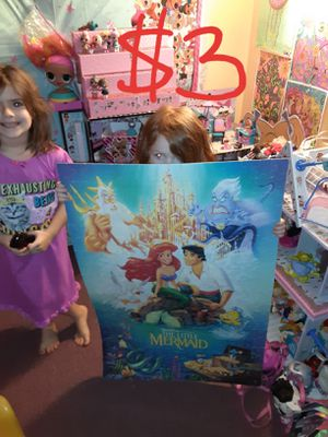 Ariel little mermaid puzzle poster for Sale in Saint Thomas, PA