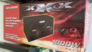 10' Dual Bass Box with Amplifier 1,000 watts for Sale in Haines City, FL