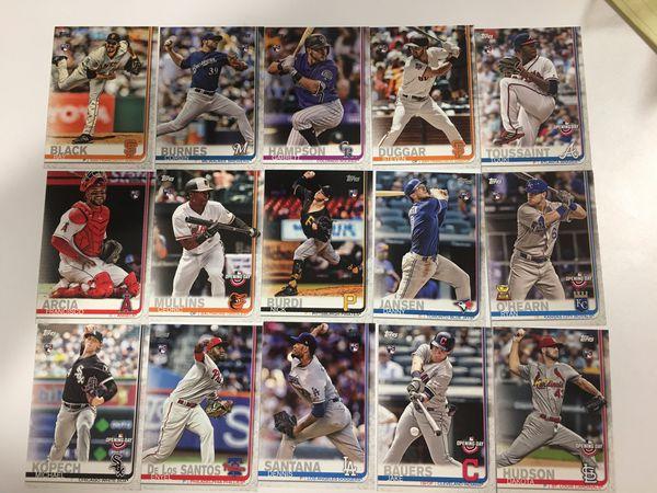 Baseball cards all 2019 rookies