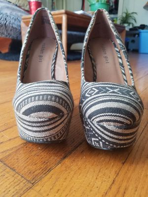 madden girl navy blue/grey size 7 wedge heels for Sale in Portland, OR
