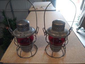 Antique Adlake Kero Railroad Lantern,antique railroad lantern,antique ruby red lantern,antique train lantern,kero lantern,train lantern for Sale in Powder Springs, GA
