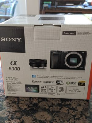 [Brand New] [Unopened] Sony a6000 mirror less camera for Sale in San Diego, CA