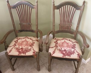 Custom Painted Shaker Chairs with Toile Cushions for Sale in Boca Raton, FL