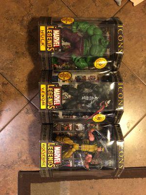 "Toy Biz Marvel Legends Icons Wolverine/Hulk/Venom - 12"" for Sale in Phoenix, AZ"