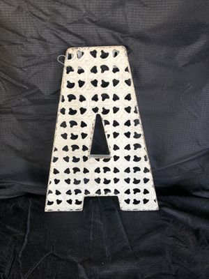 """Wall Hanging Metal Letter """"A"""" for Sale in Garden Grove, CA"""