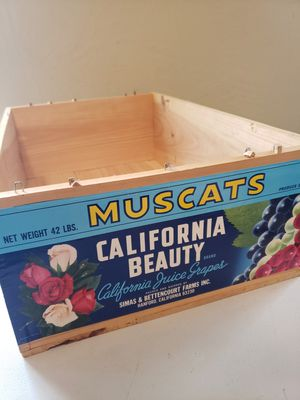 Vintage grape packaging labels & 1 new wooden box for Sale in Fresno, CA