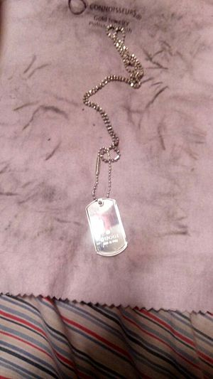 Gucci dog tag and chain for Sale in Norfolk, VA