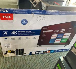 "NEW TCL 4K smart tv 55"" 6 3 for Sale in Pflugerville, TX"