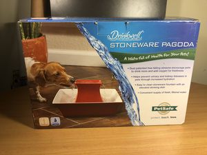 Drinkwell Red Stoneware Pagoda Pet Water Fountain for Sale in Bethesda, MD
