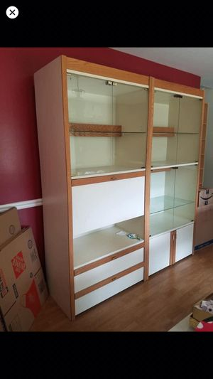 2 double glass shelves same size $$250 each $400 for both . for Sale in Silver Spring, MD