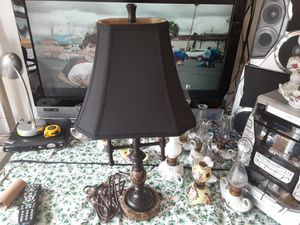 REALLY nice Looking VINTAGE LAMP with Dark BROWN BRASS and Marble for Sale in Arnold, MO