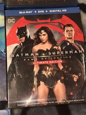 Batman vs Superman Ultimate Edition Blu Ray DVD for Sale in Gardena, CA