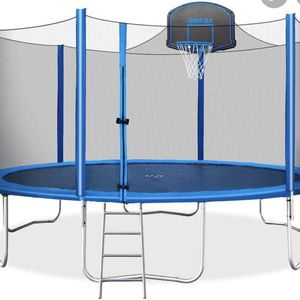 16ft Trampoline With Basketball Hoop for Sale in City of Industry, CA