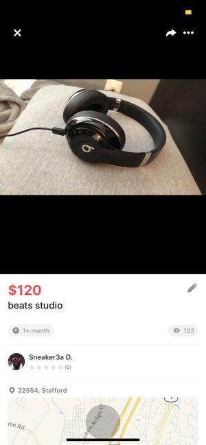 Beats studio black barely used for Sale in Stafford, VA