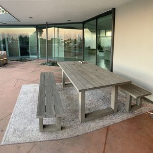 Outdoor Dinning Table + 2 Benches for Sale in Inglewood, CA
