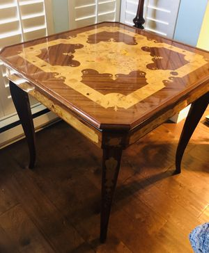 Antique ITALIAN Inlaid Lacquered Wood Gaming Table for Sale in Belvedere, CA