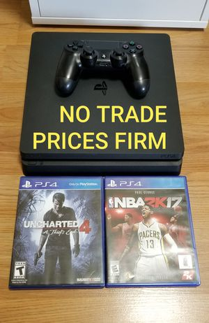 PS4 SLIM BUNDLE, NO OFFER, FIRM PRICE, GREAT CONDITION, READ DESCRIPTION FOR DETAILS for Sale in Garden Grove, CA