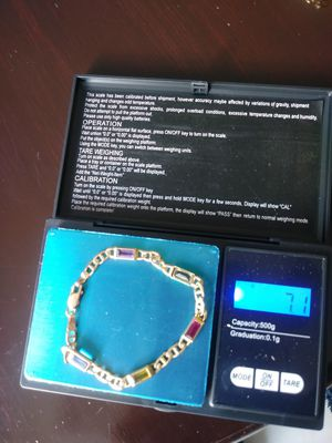 Real 14K gold bracelet with stons for Sale in Sunrise, FL