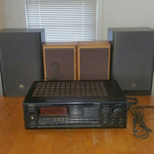 STEREO ONKYO QUARTZ SYNTHESIZED TUNER AMPLIFIER RI DOLBY SURROUND PRO-LOGIC WITH 4 SPEAKERS JBL for Sale in Hampton, VA