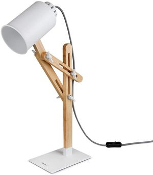 Wooden Multi-Angle Swing Arm Designer Table Lighting for Sale in Chino, CA