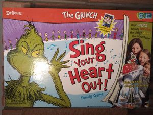 The Grinch Sing Your Heart Out! Board Game for Sale in Denver, CO
