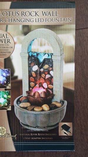 Lotus wall LED fountain for Sale in Encinitas, CA