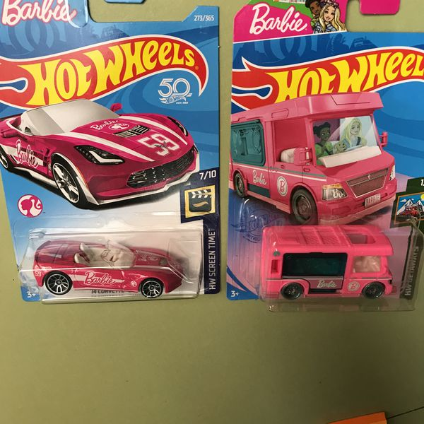 Hot wheels Barbie 2014 Corvette stingray Hot Wheels Barbie dream camper For both cars $25