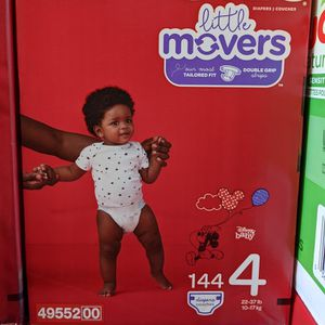 Huggies Little Movers Size 4 (144 Counts) for Sale in Long Beach, CA