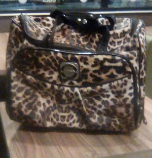 Used, Nice, Fifth Avenue, New York leopard rolling duffle bag. for Sale in Long Beach, CA