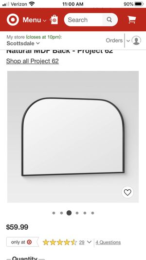 "24""x36"" black wall mirror for Sale in Scottsdale, AZ"