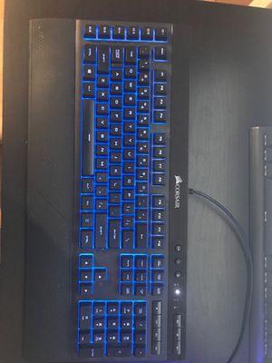 Corsair K55 RGB membrane keyboard for Sale in Richmond, VT
