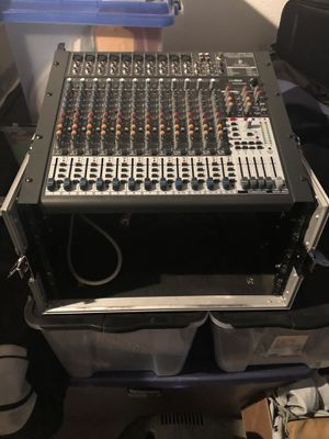 Behringer xenyx x 2442 mixer with case for Sale in Carlsbad, CA