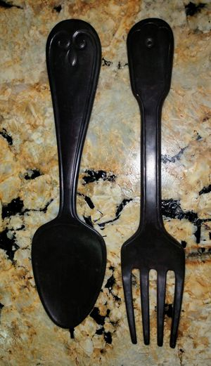 Big Wooden Dining Room Kitchen Art Wooden Fork and Spoon for Sale in St. Pete Beach, FL