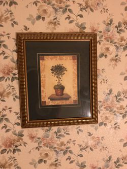 Framed ivy topiary print for Sale in Tinley Park,  IL