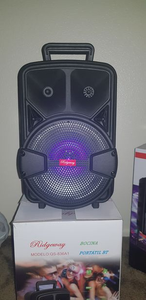 Brand New speaker in the box has Bluetooth fm am great sound base very loud only for 45 bucks brand new in the box for Sale in Phoenix, AZ