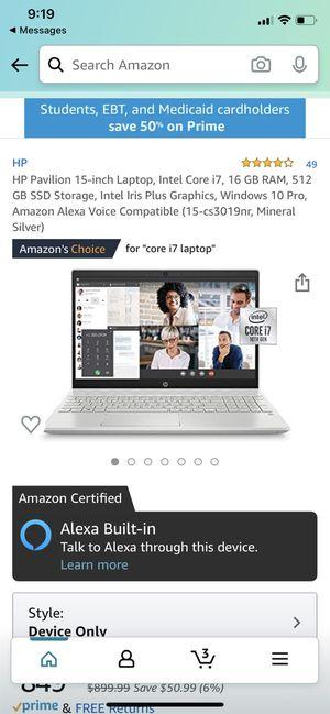 HP Pavillion 15 inch laptop for Sale in North Smithfield, RI