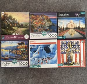 2 new sealed 1000 piece buffalo games puzzles for adults for Sale in Los Angeles, CA