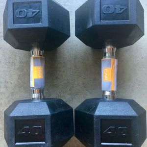40LB Hex Dumbbells Pair . Total 80Lb . Brand New ! for Sale in Bellevue, WA