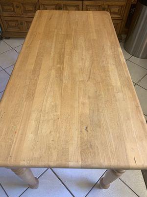 Súper solid Wooden kitchen table with drawers- Mesa de cocina de madera con cajones for Sale in Miami, FL