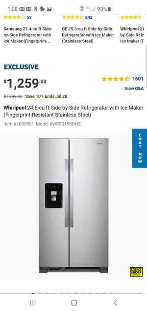 Whirlpool refrigerator Model #wrs325fdam02 for Sale in Santa Clarita, CA