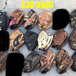 Baseball Gloves mizuno Easton Rawlings Wilson equipment bats for Sale in Marina del Rey, CA