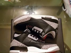 Air jordan black cement 3s size 7.5 for Sale in New York, NY