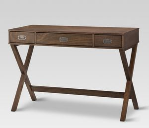 Threshold Campaign Wood Writing Desk With Drawers for Sale in Downey, CA