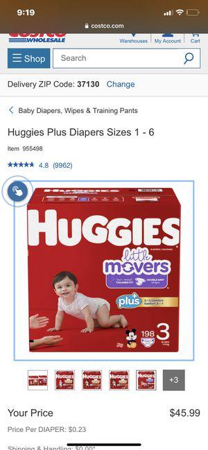 Huggies little movers plus for Sale in Murfreesboro, TN