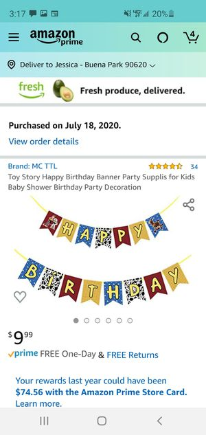 Toy story party decoration for Sale in Anaheim, CA