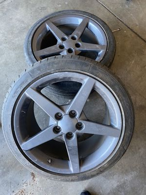 Corvette wheels 2'rims only both 19'inch for Sale in Stockton, CA
