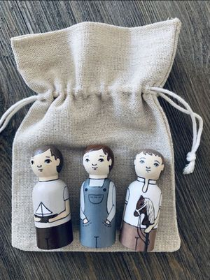 Wooden Peg Dolls // Three Brothers // Unique // Eco-Friendly // Kids Toys for Sale in McDonald, TN