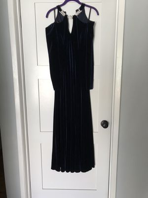 Midnight blue velvet evening / prom dress for Sale in Santa Monica, CA