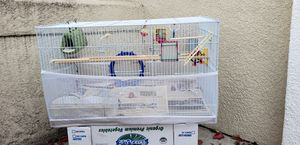 FREE large bird cage/Everything inside included for Sale in Dublin, CA